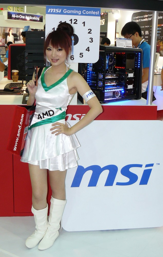 AMD-Girl bei MSI