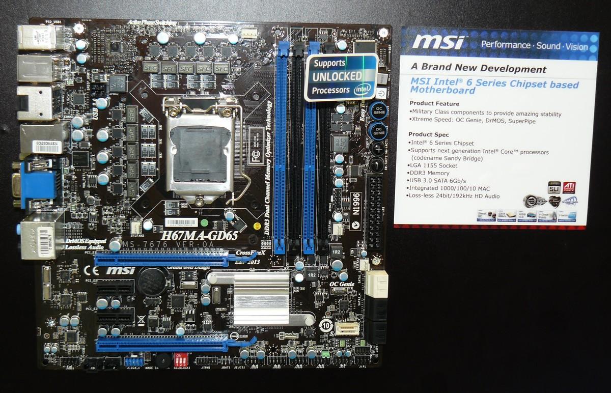 MSI H67MA-GD65