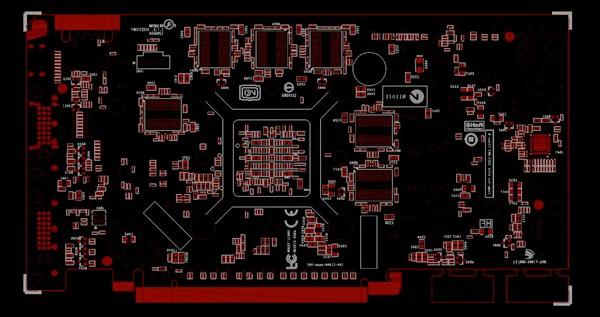 Angebliches Platinen-Layout der GeForce GTS 450 - Rückseite