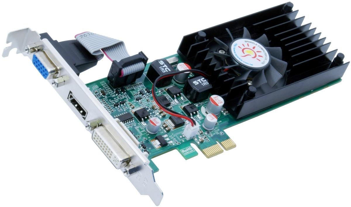 Sparkle Unveils Geforce 210 Gt220 Gt240 Pci Express X1 Graphics Vga Card Gt210