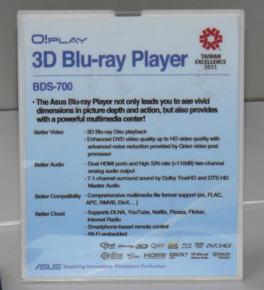 ASUS O!Play BDS-700 Kurzbeschreibung