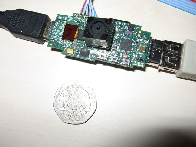 Raspberry Pi device with attached 12MPixel camera module