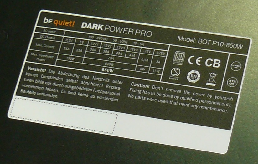 Be Quiet Dark Power Pro P10