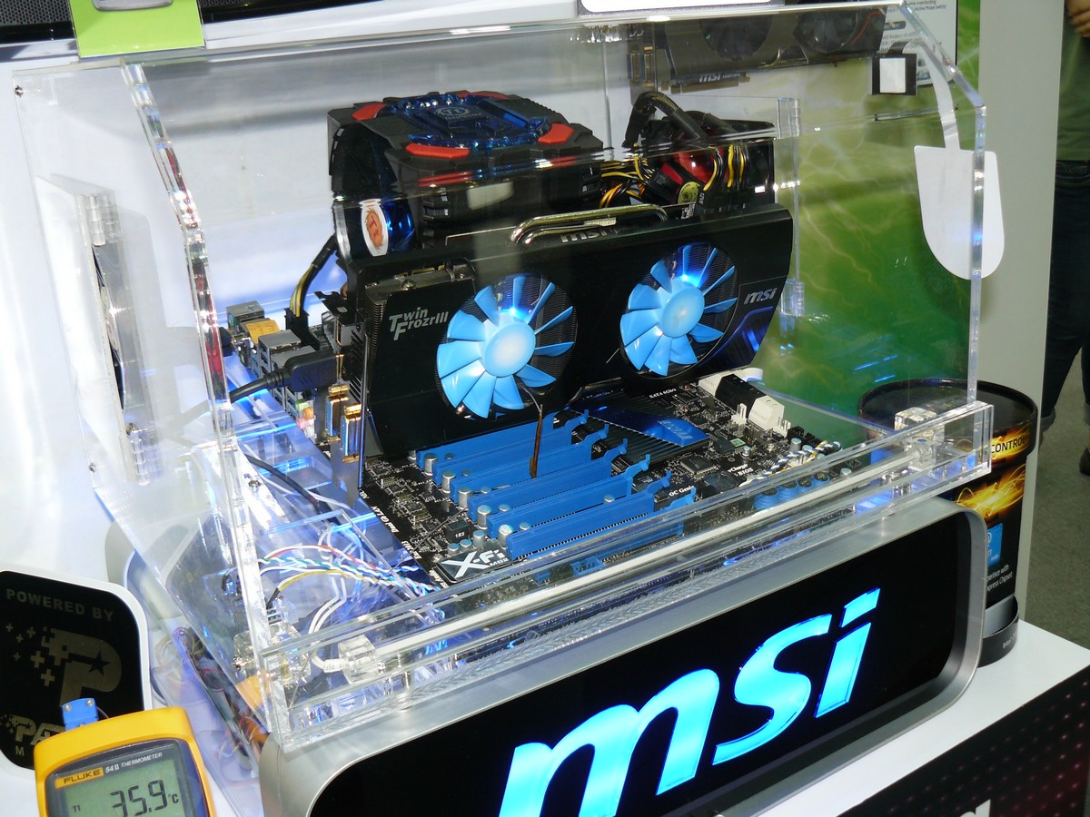 MSI N580GTX Lightning Extreme Edition in Aktion