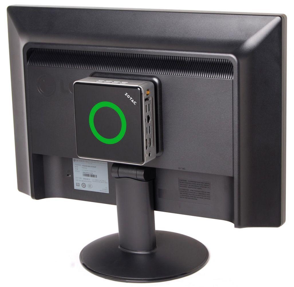 Zbox nano AD10 hinterm Fernseher montiert