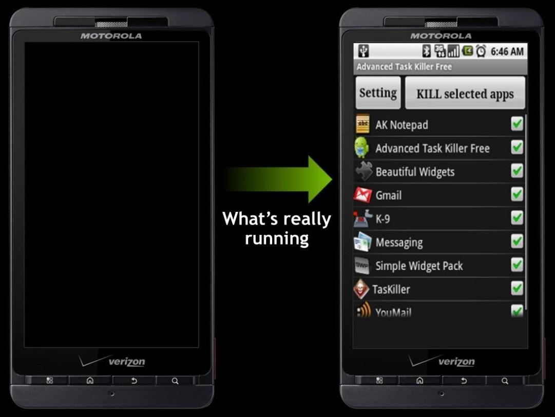 Hintergrundprogamme auf einem Smartphone