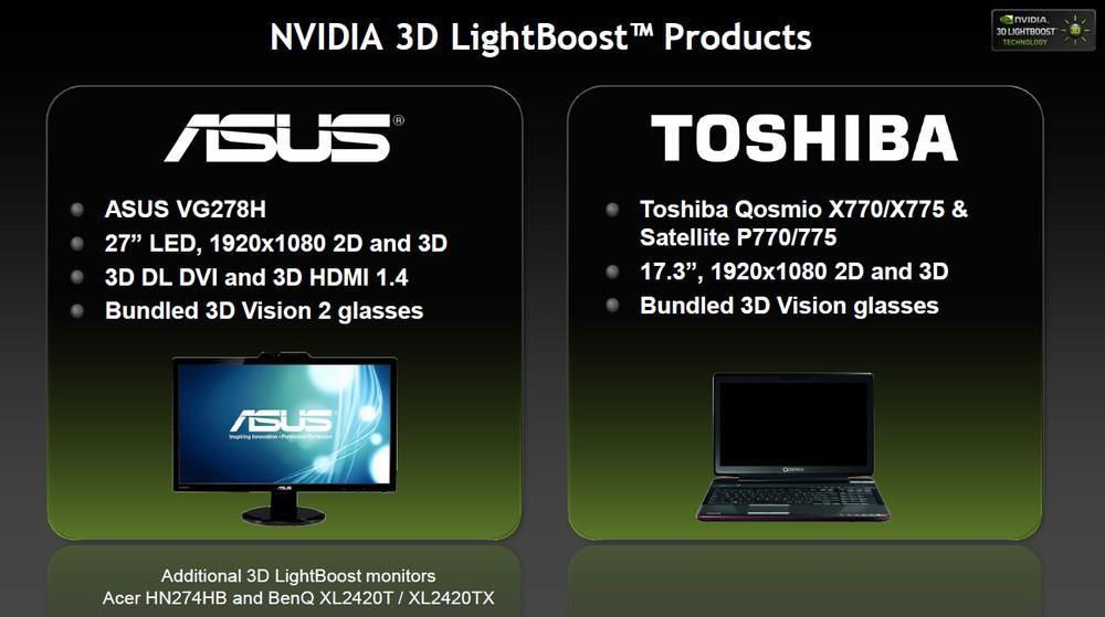 Erste Produkte mit 3D LightBoost von ASUS & Toshiba