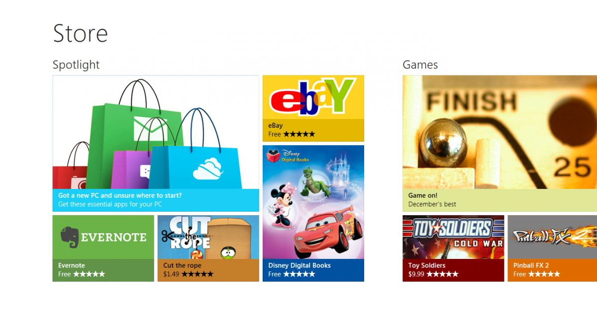 Design des Windows Store