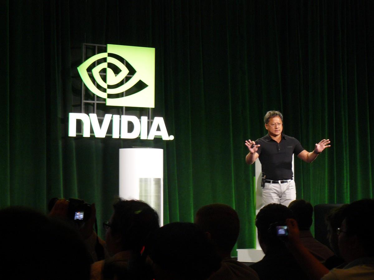 Nvidia-Chef Jen-Hsun Huang auf der Pressekonferenz