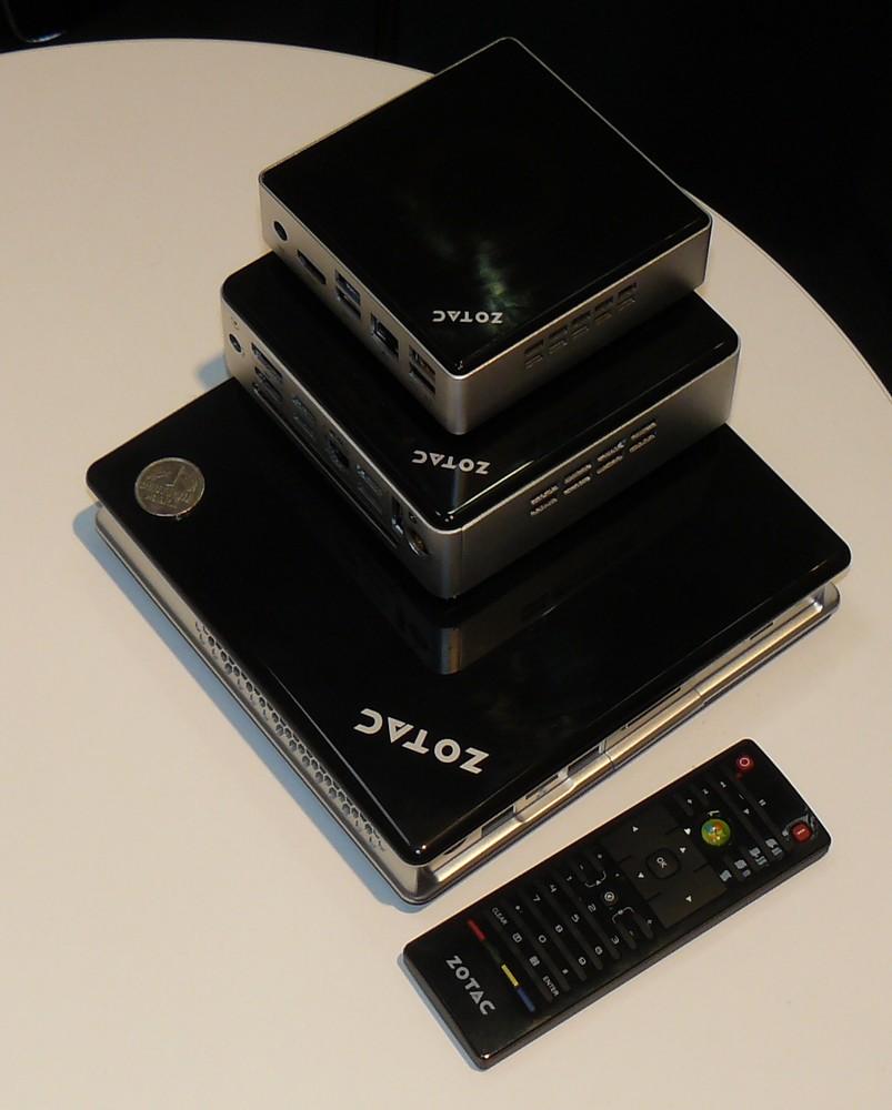 Größenvergleich: Zbox unten, Zbox nano mittig, neue Zbox oben