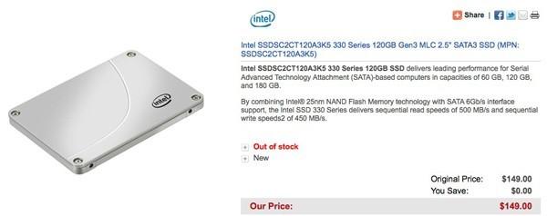 Intel SSD 330 Serie gelistet