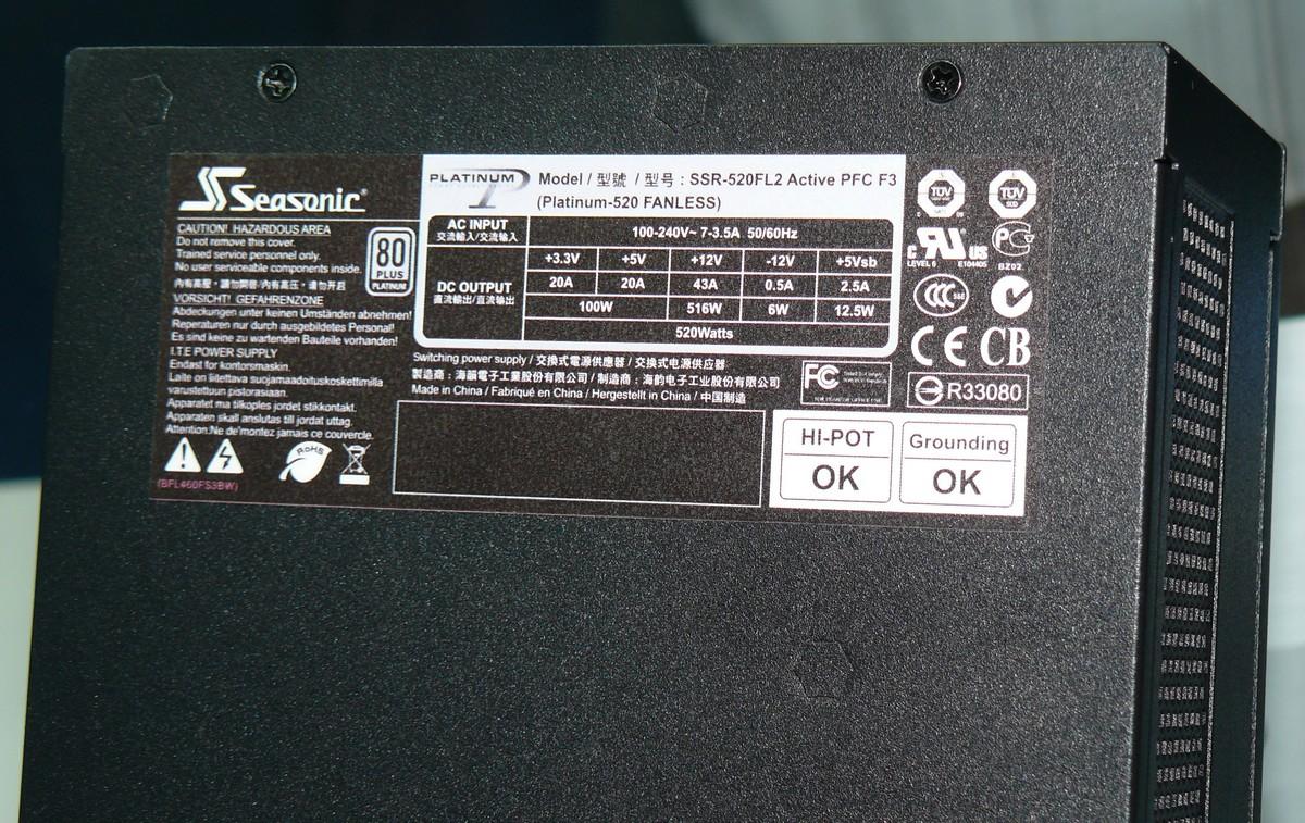 Platinum-520 Fanless Daten