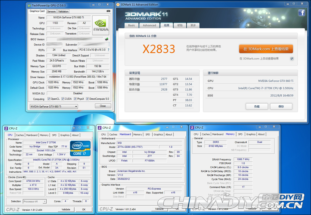 GeForce GTX 660 Ti OC - 3DMark 11 Extreme