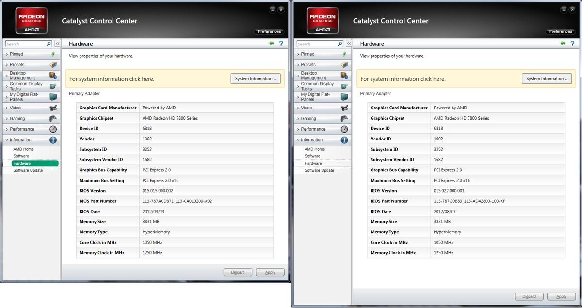 Vergleich: CCC Hardware-Infos
