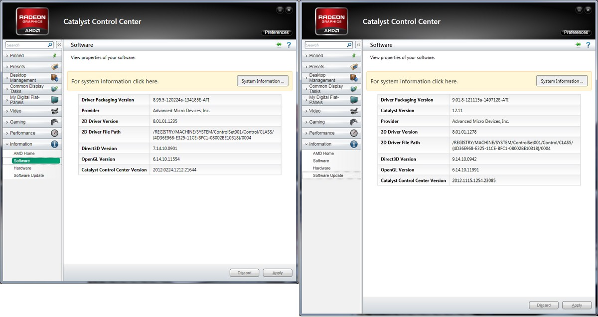 Vergleich: CCC Software-Infos