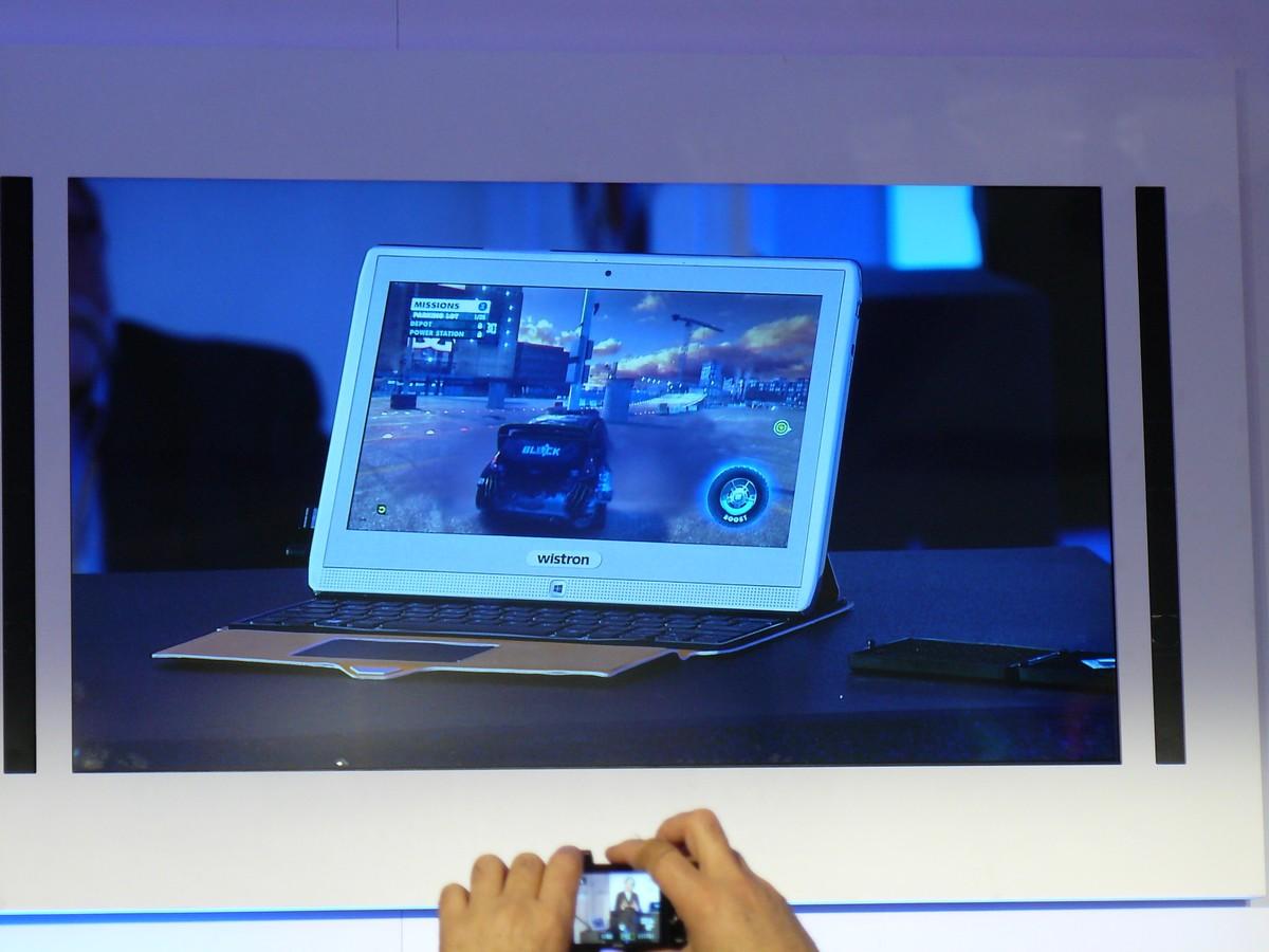 Temash-Tablet in Aktion mit DiRT3