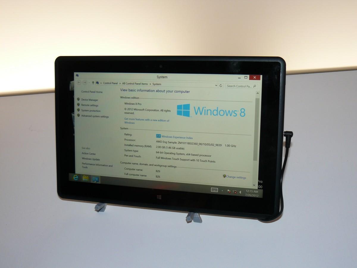 Temash-Tablet mit Windows 8