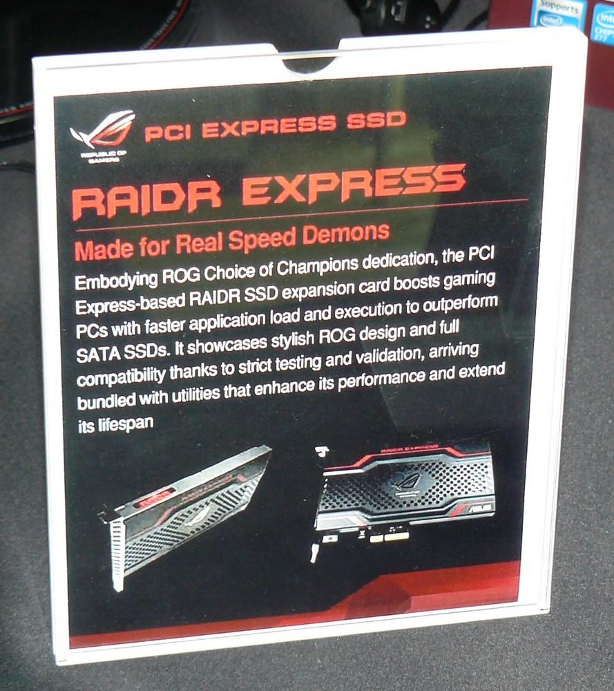 RAIDR Express Infos