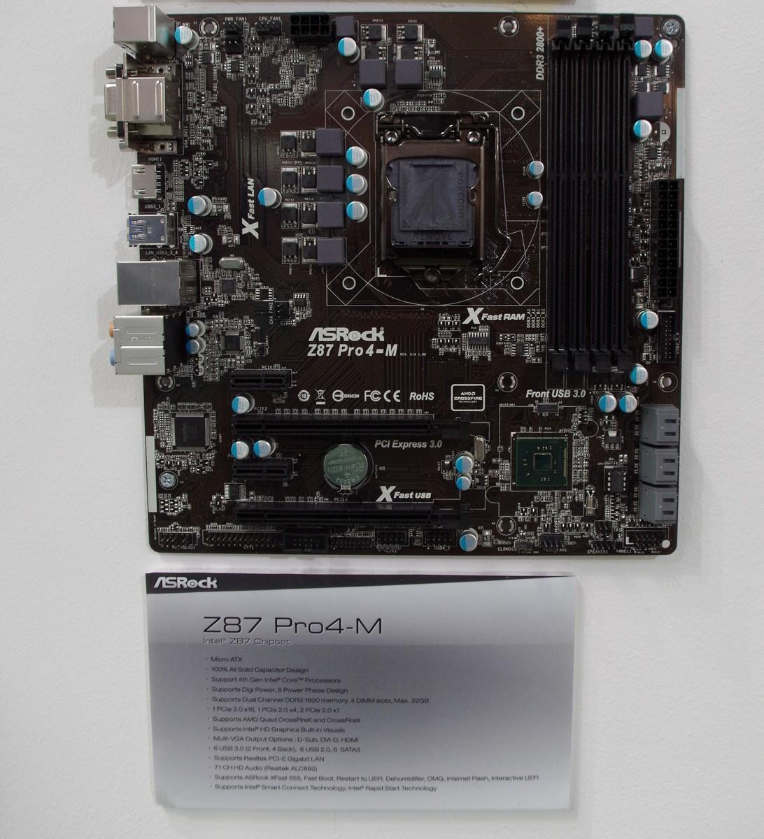 ASRock Z87 Pro4-M (MicroATX)