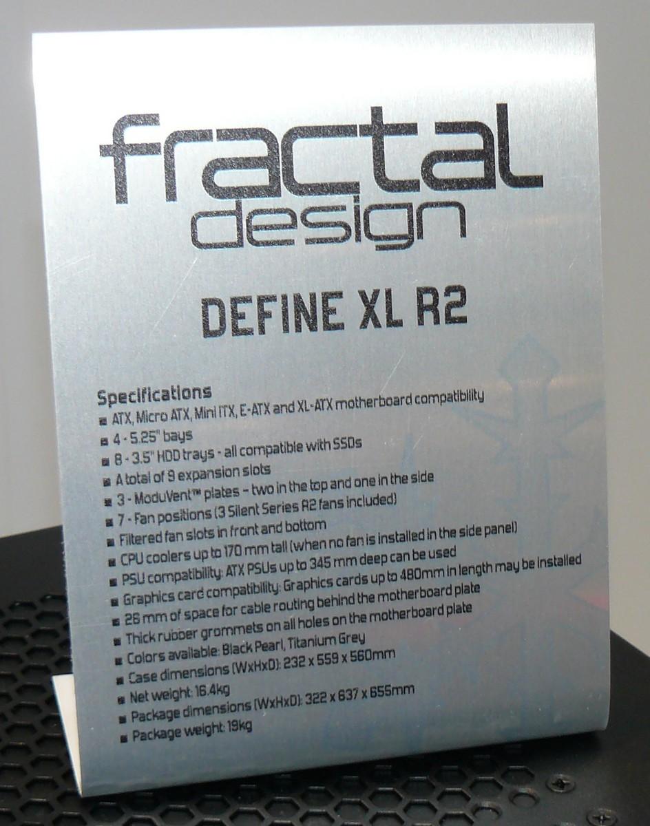 Define XL R2 Specs