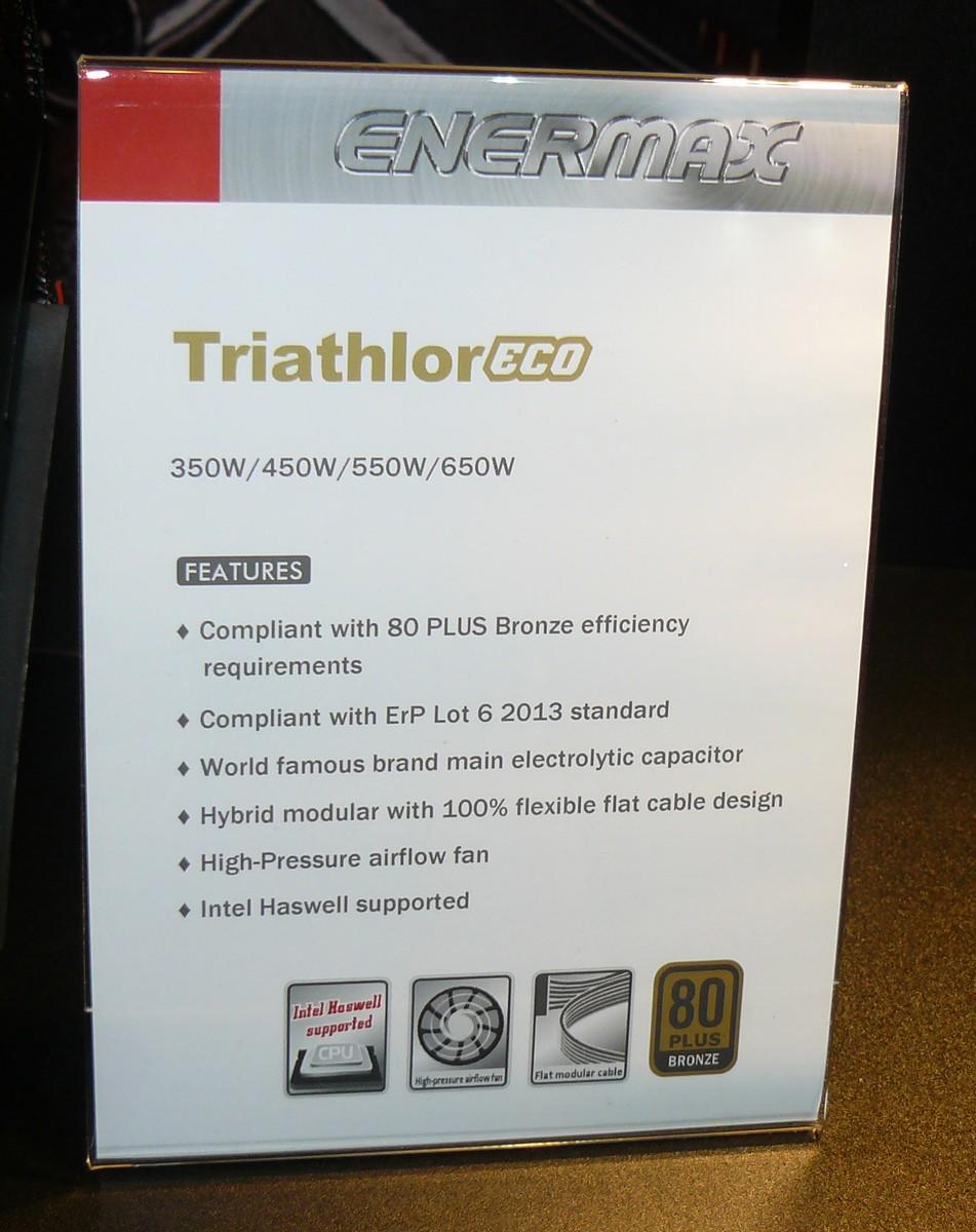 Enermax Triathlor Eco Features