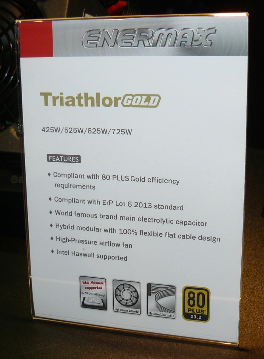 Enermax Triathlor Gold Features