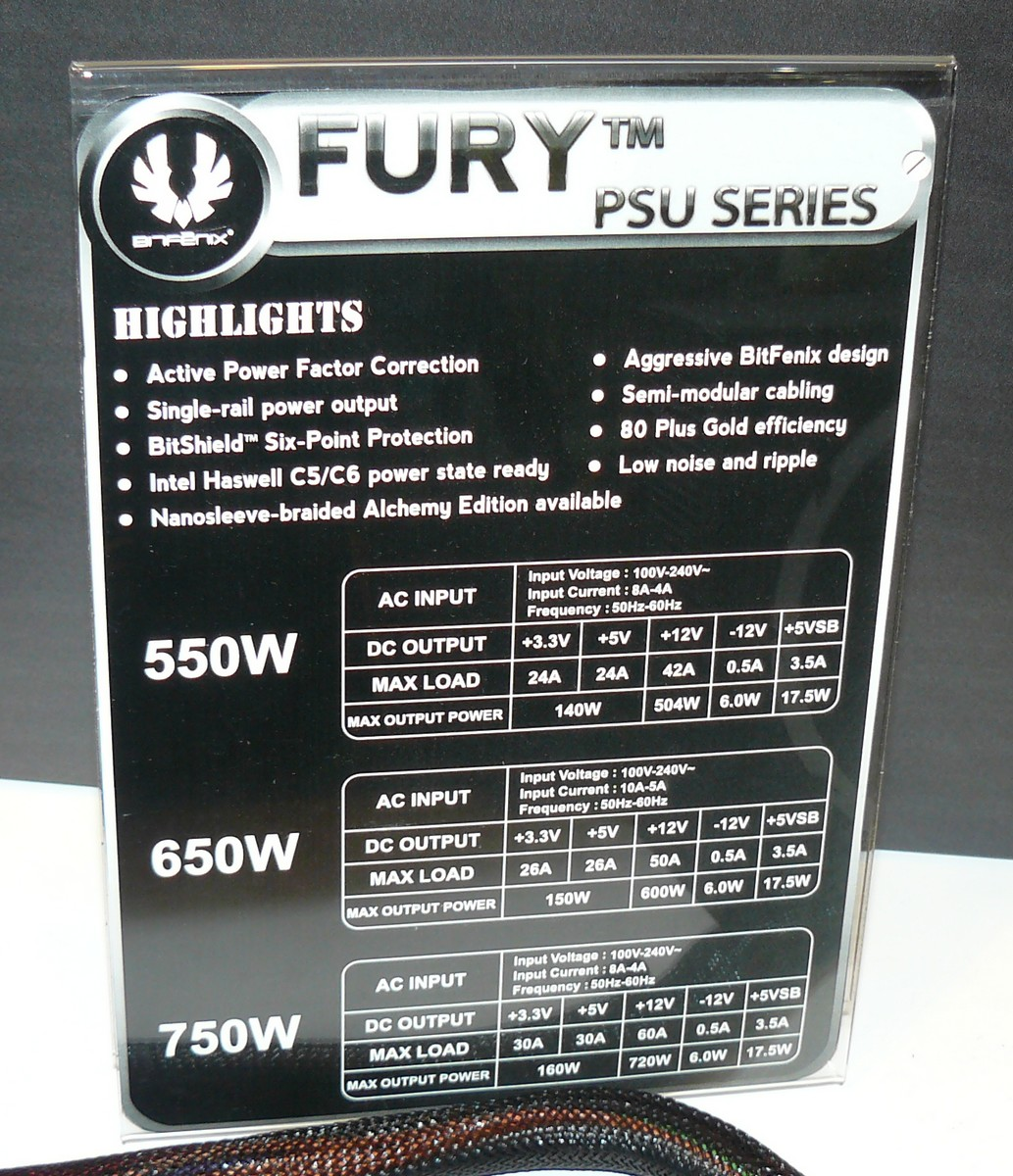 BitFenix Fury Features