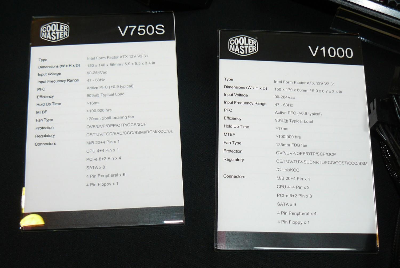 Cooler Master V-Serie Specs