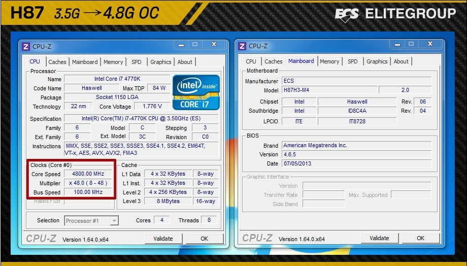 Haswell Overclocking auf Intel H87