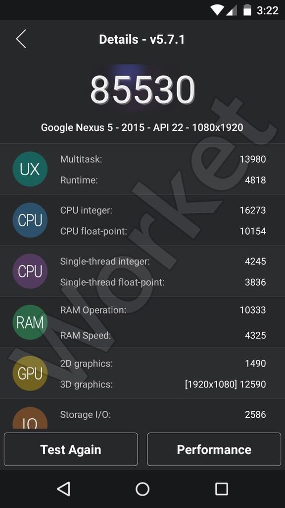 Nexus 5 (2015) Antutu Benchmarks