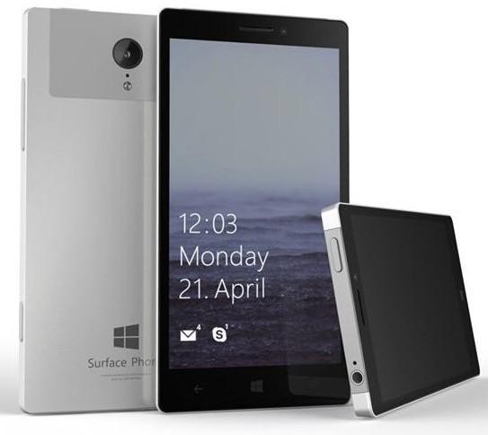 Konzept eines Surface Phone