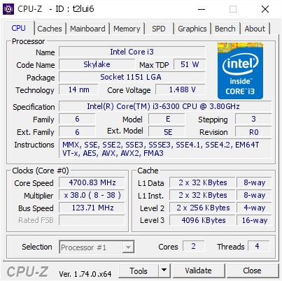 Core i3-6300 mit 4,7 GHz