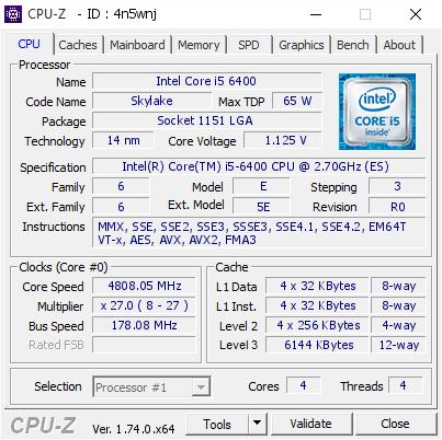 Core i5-6400 mit 4,8 GHz