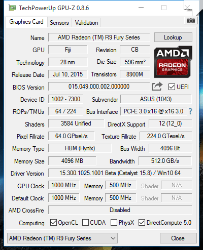GPU-Z: Standard