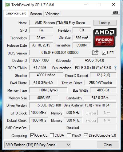 GPU-Z: freigeschaltet