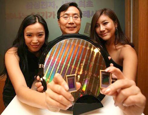 Samsung Wafer & Chips (Quelle: http://www.chipsetc.com/samsung.html)