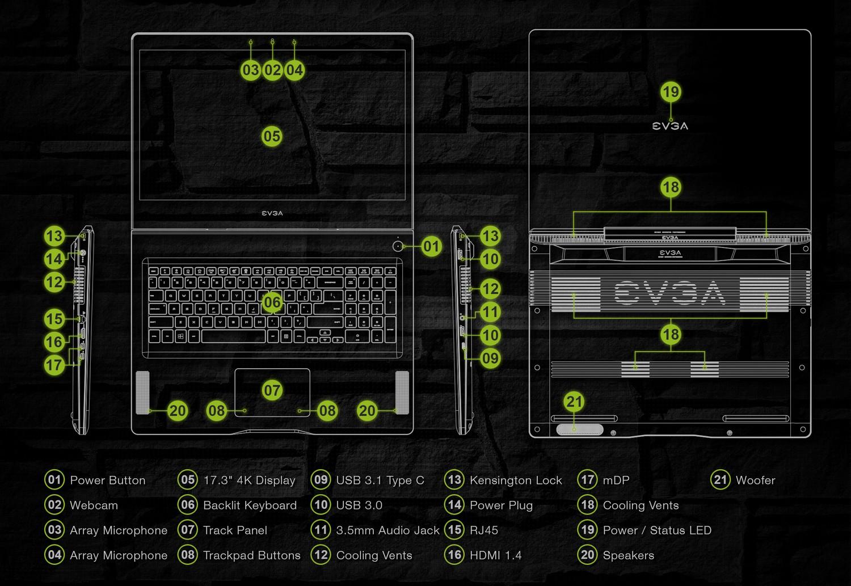 EVGA SC17 Gaming Laptop