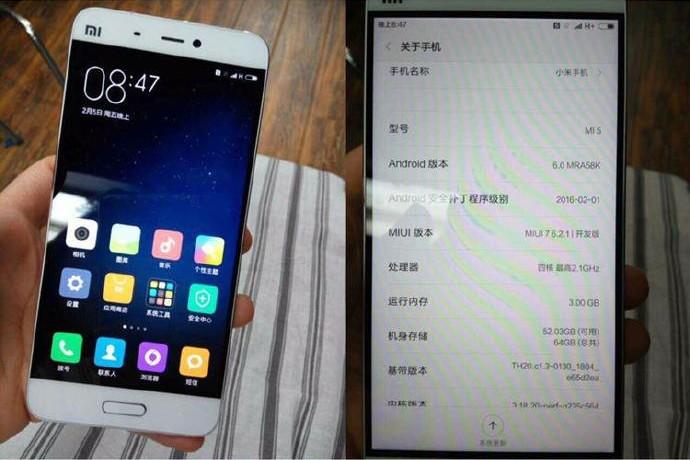 Xiaomi Mi5 mit Specs