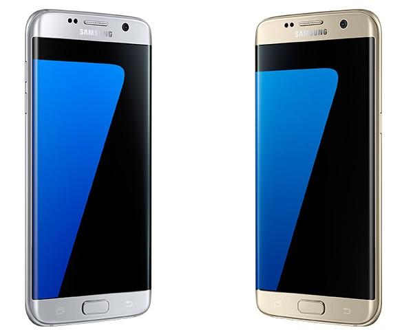 Galaxy S7 edge Silber & Gold