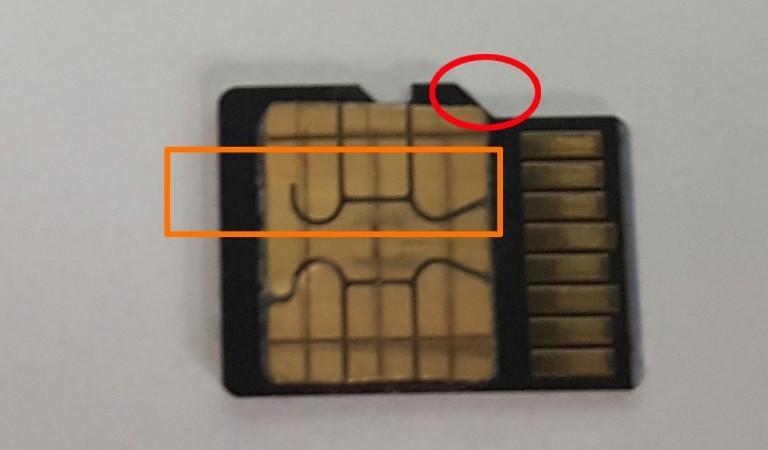 Auf MicroSD-Karte kleben