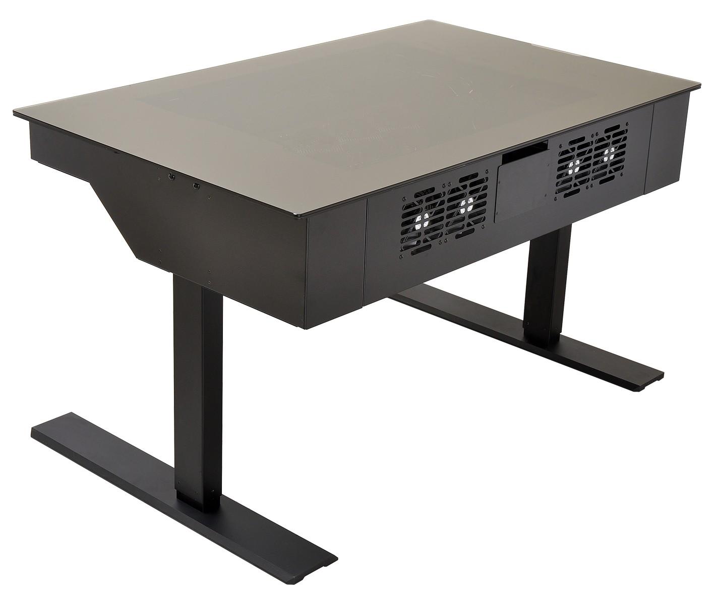 pc tisch zum stehen sitzen hartware. Black Bedroom Furniture Sets. Home Design Ideas