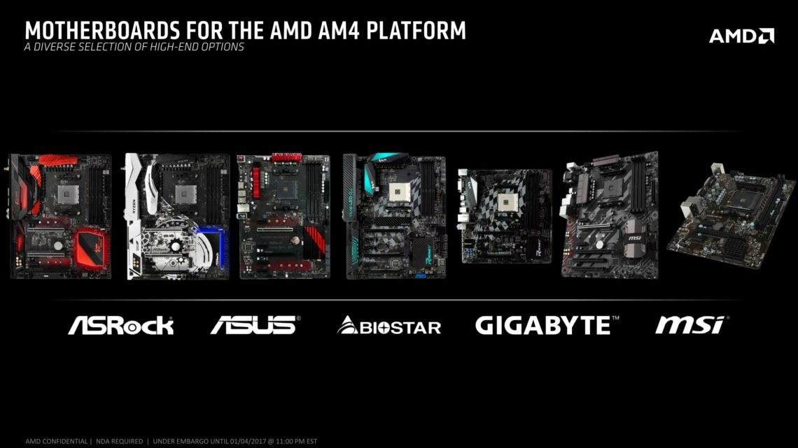 Mainboards für AMD Ryzen