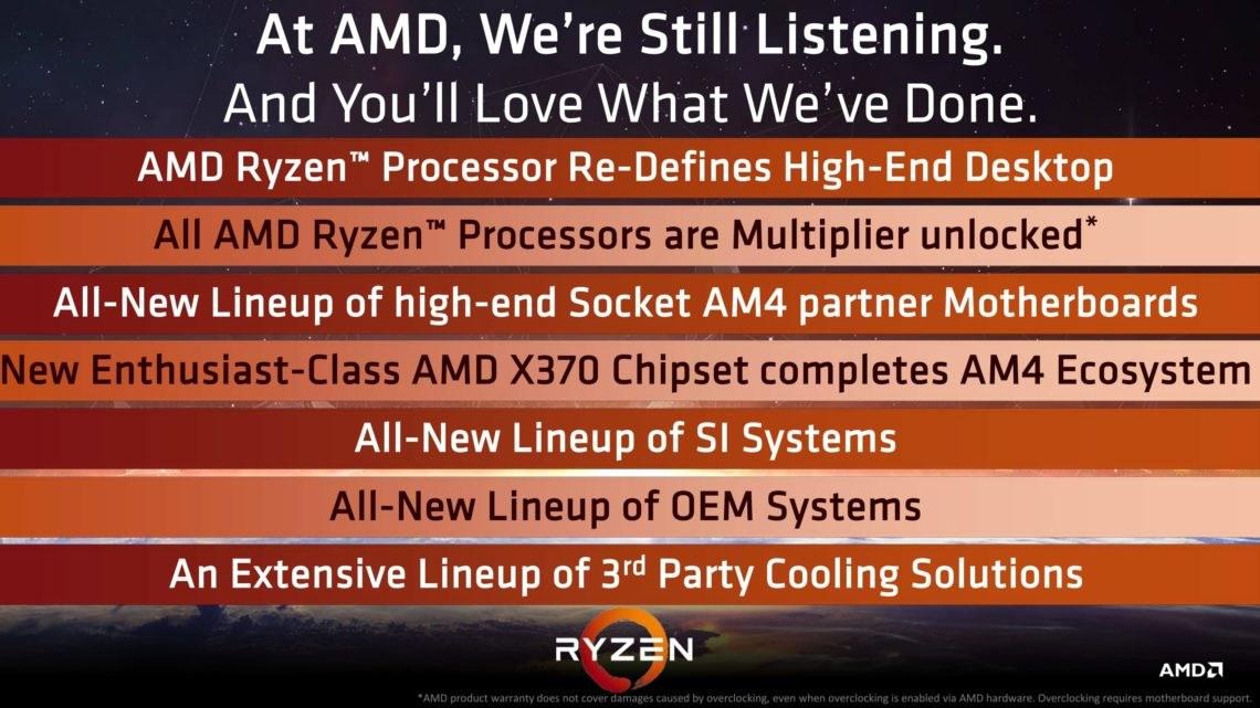 Features von Ryzen & Plattformen