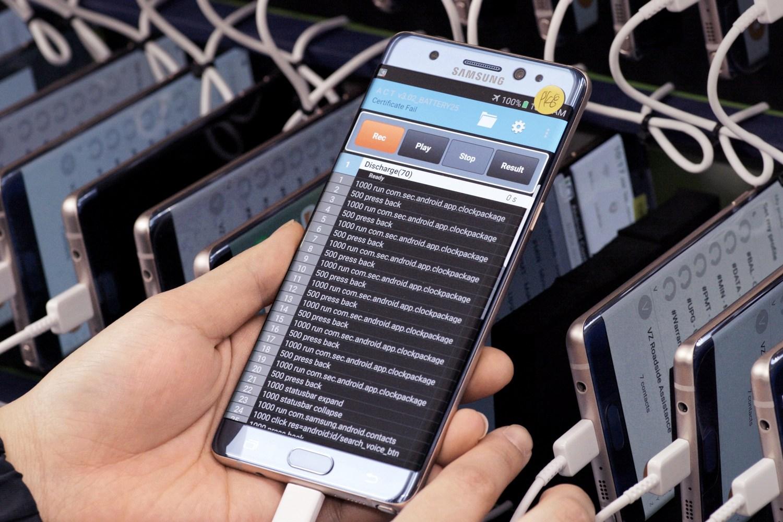 Samsung Galaxy Note7 im Testlabor