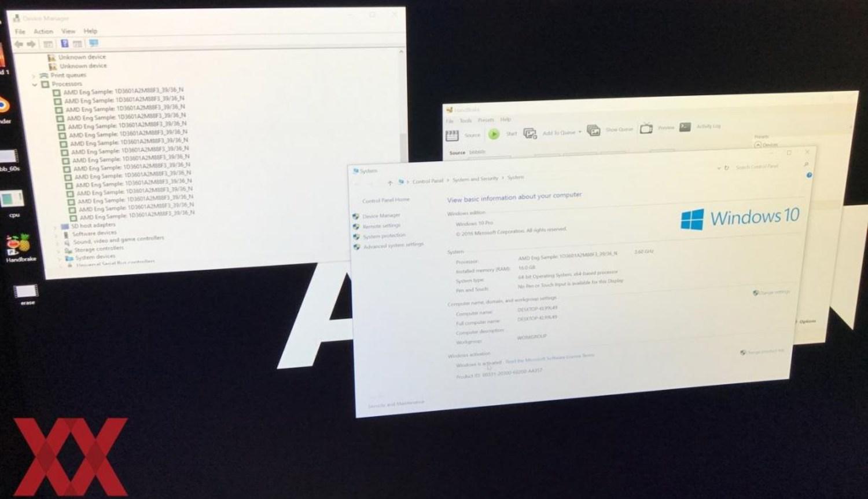 Angeblicher Screenshot vom AMD Ryzen System