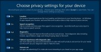 Creators Update Privacy Settings