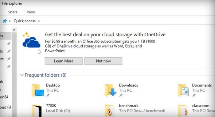 Windows 10 - Neue Werbung im Explorer nervt Nutzer