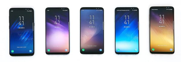 Samsung Galaxy S8 front
