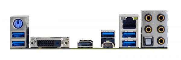 Biostar AM4 Mini-ITX Backpanel