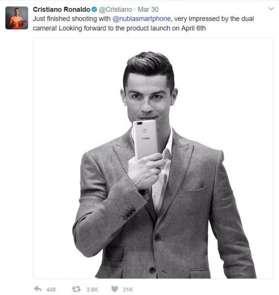 Christiano Ronaldo Nubia Twitter